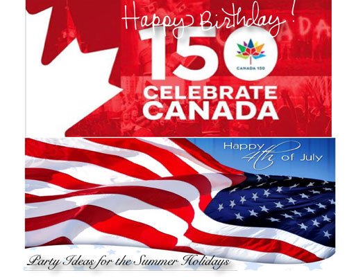 4th of July + Canada Day Party Ideas