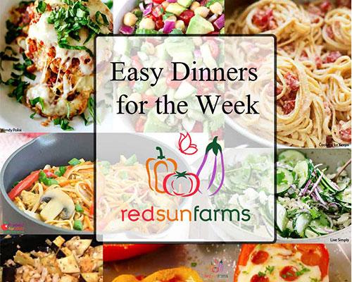 A Week of Easy Dinners