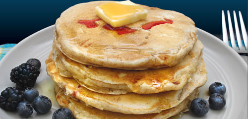 Cheddar and Roasted Red Pepper Pancakes