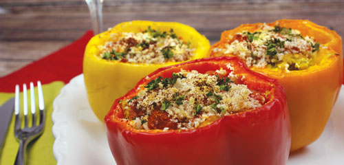Curry Chicken Stuffed Peppers